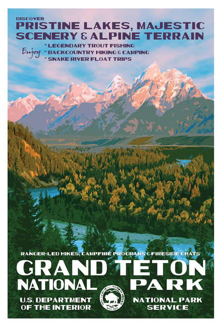 National Park Grand Teton Postcard.