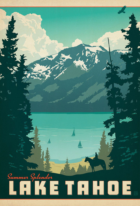 National Parks Lake Tahoe Postcard.