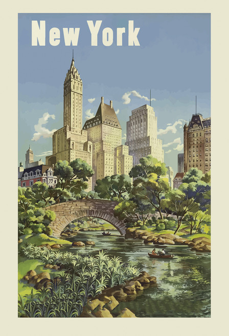 New York Central Park Postcard.