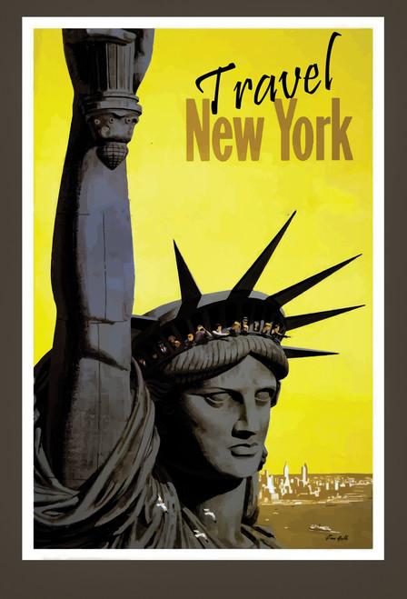 New York Statue of Liberty Postcard.