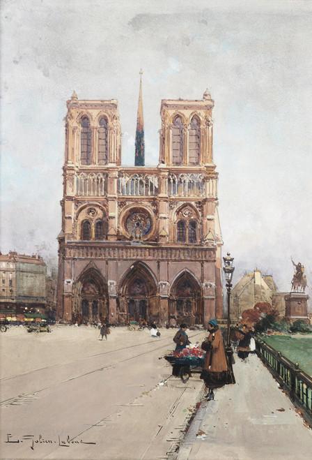 Notre Dame Flower Lady Postcard.