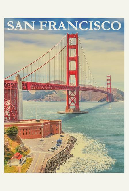 Golden Gate Bridge San Francisco Postcard.