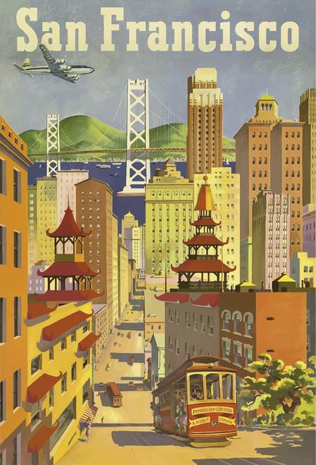 San Francisco Trolley Postcard.