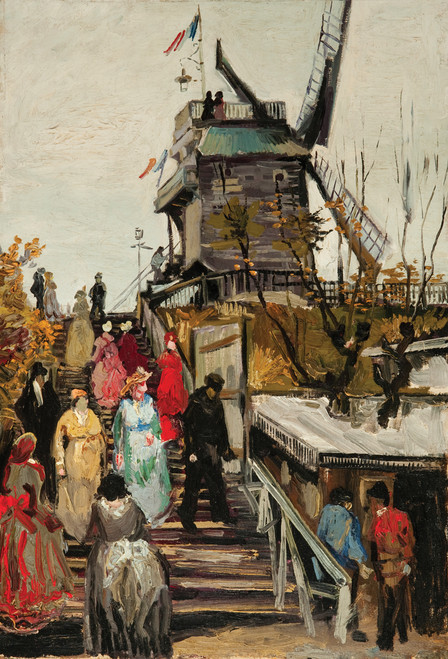 Van Gogh Le Moulin Postcard.