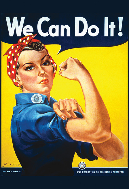 We Can Do It Rosie the Riveter Postcard.