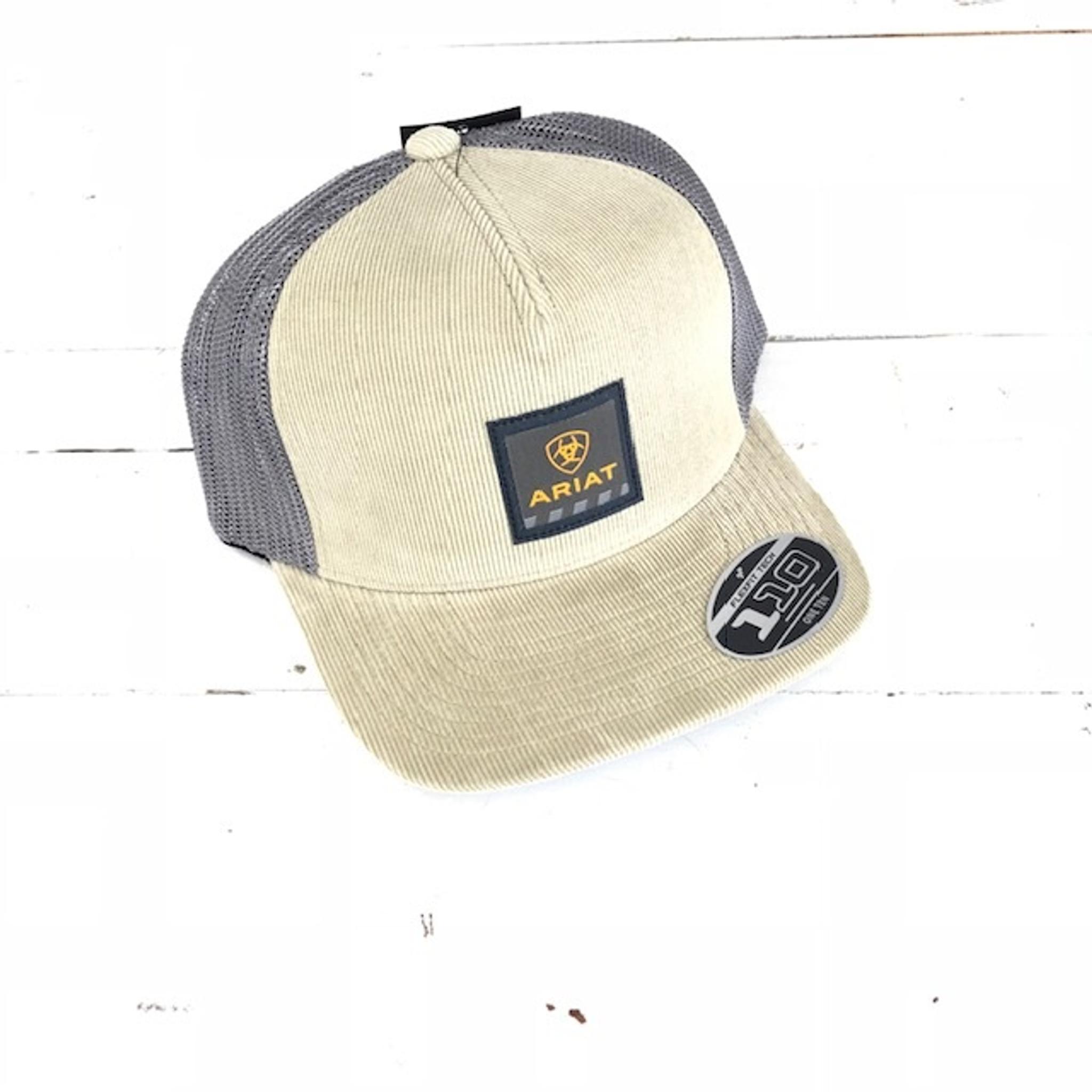 8c849eca6 Ariat Hat Khaki Rebar Logo