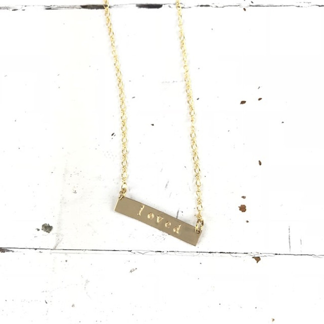 gold mantra necklace