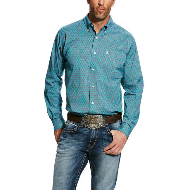 mens ariat button down shirt
