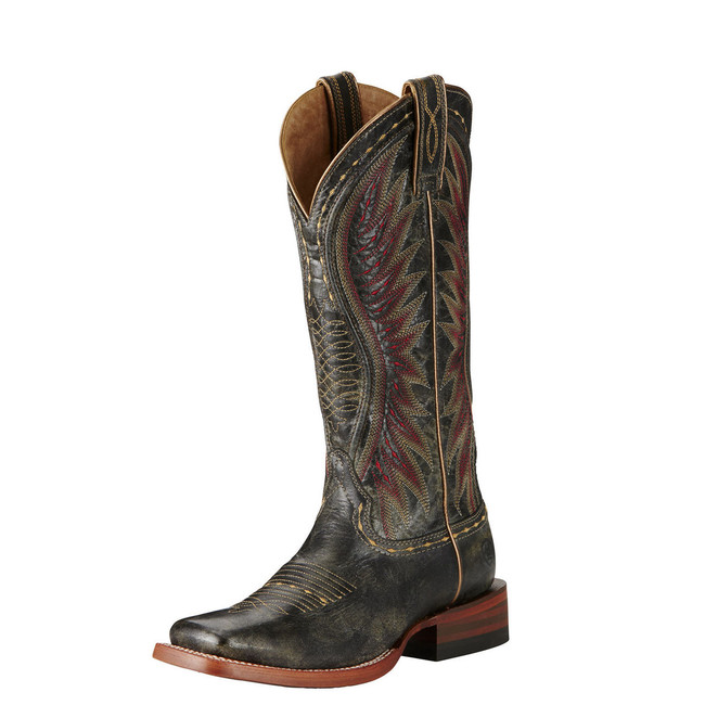 Vaquera Square Toe Gray Cowgirl Boot by Ariat