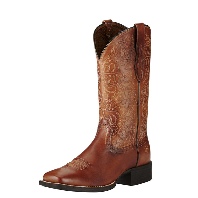 Brown Square Toe Cowgirl Boot by Ariat