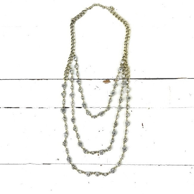 gold crystal necklace