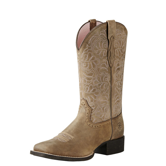 Taupe Square Toe Cowgirl Boot by Ariat