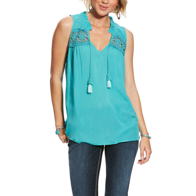 womens split neck blouse