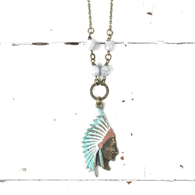 chief head necklace long