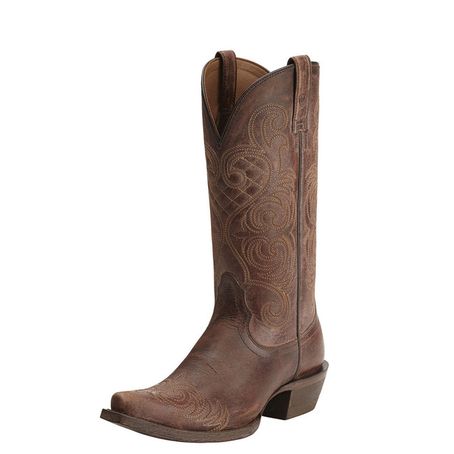 Pointy Toe Brown Cowgirl Boot by Ariat