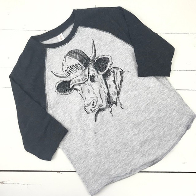 childrens cow t shirt