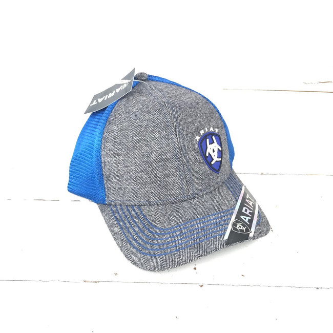 blue ariat hat