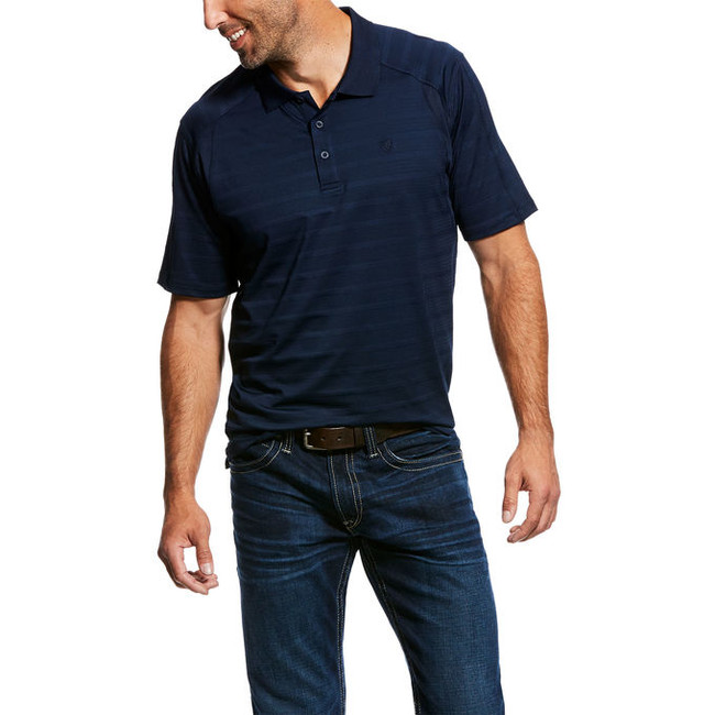 mens dark blue polo shirt