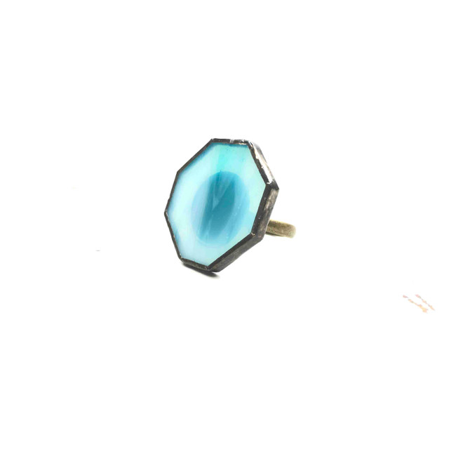 blue glass ring