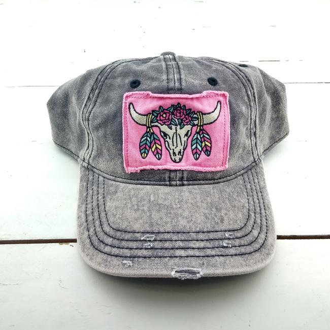 steer skull hats