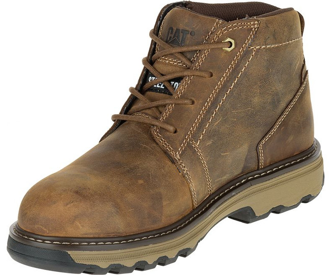 Brown Lace Up Boot by CAT