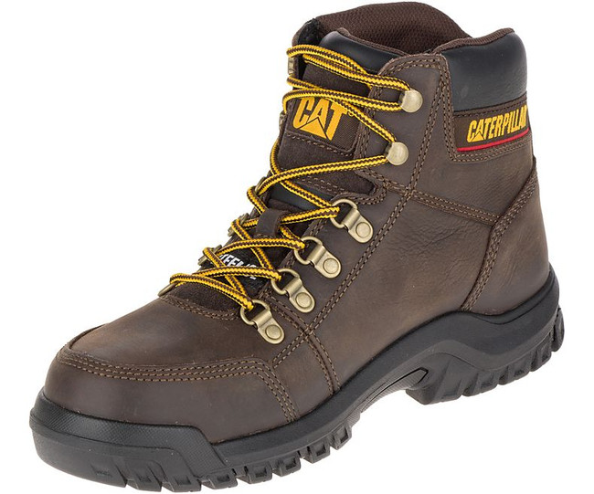"""6"""" Lace Up Steel Toe Work Boot by CAT"""