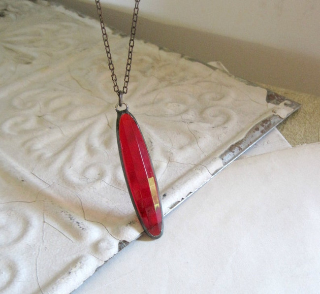 long red necklace