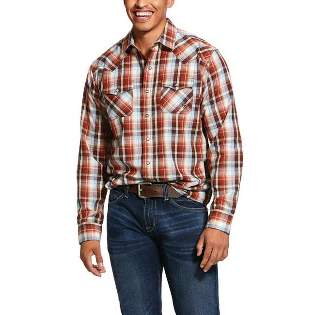 mens plaid snap shirt