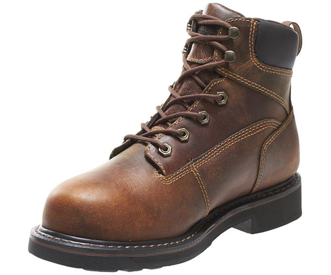 "Brown 6"" Lace Up Work Boot by Wolverine"