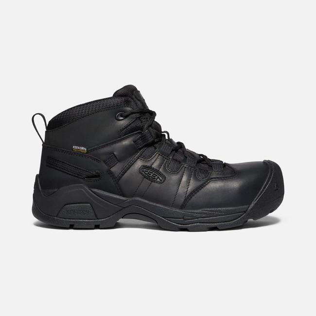 black keen work boots