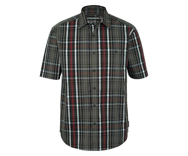 short sleeve button down work shirts for men
