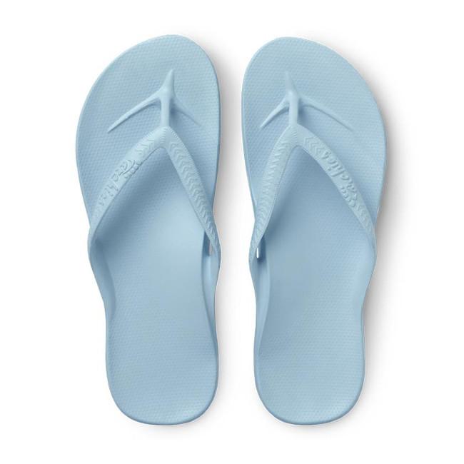 light blue flip flops