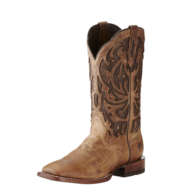 Square Toe Brown Cowboy Boot by Ariat