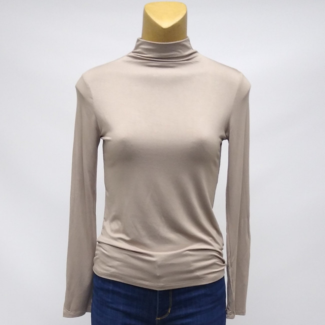ladies mock neck