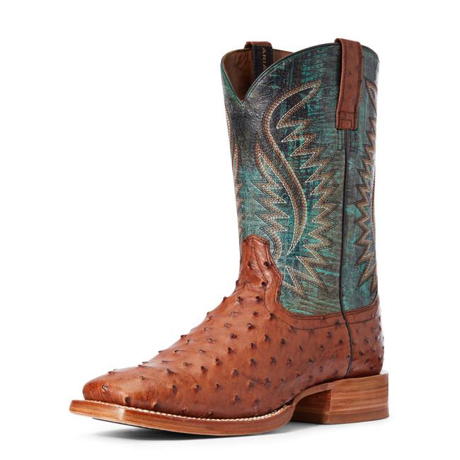 men's full quill ostrich boots