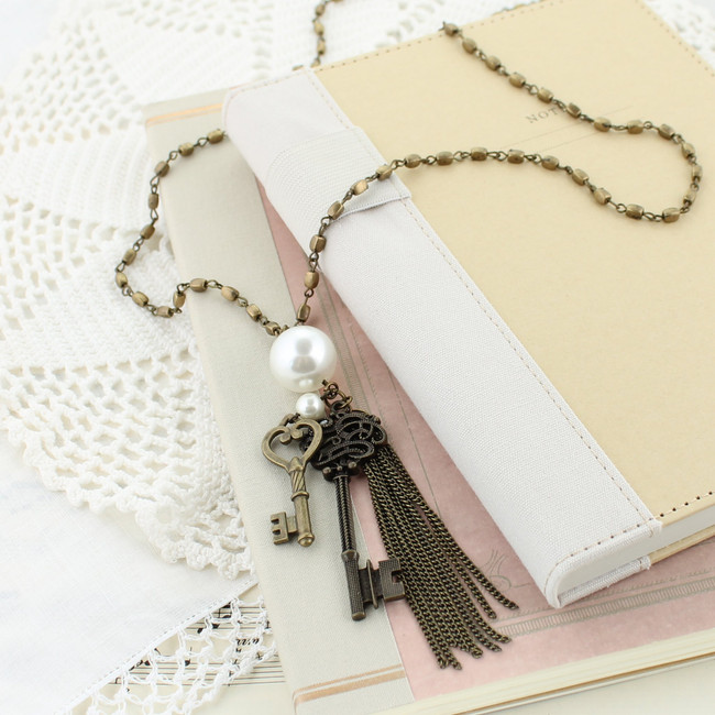 rustic key cluster necklace