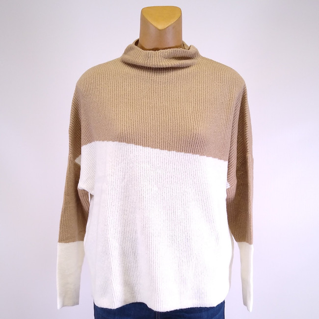 women's two tone sweater