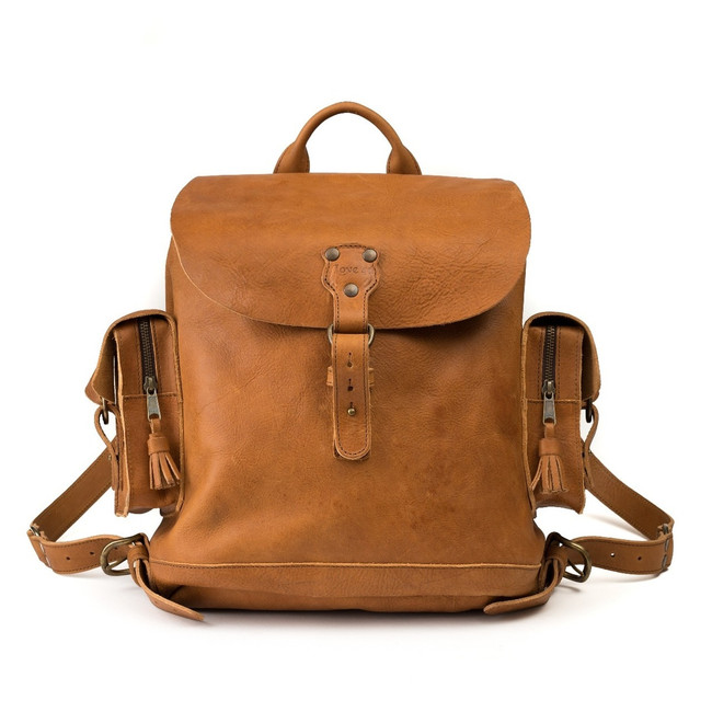 premium leather backpack
