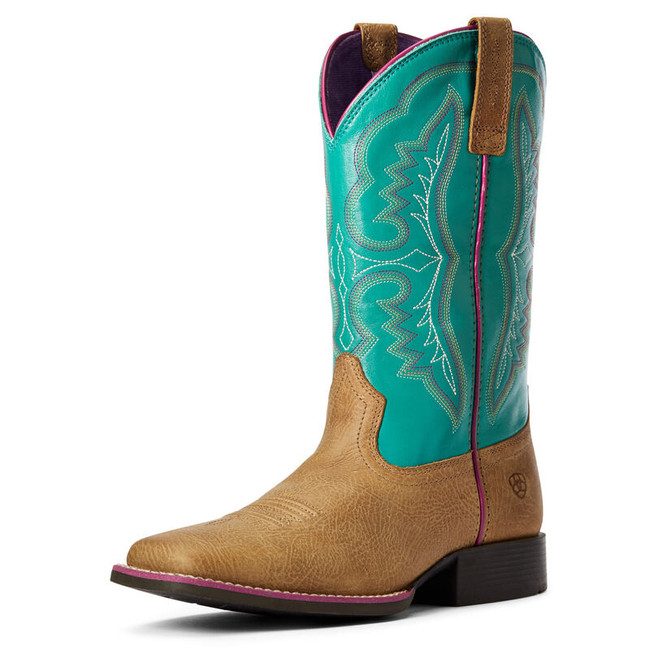 ariat kids turquoise boots