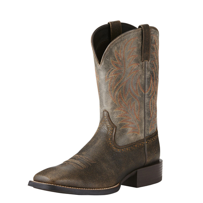 Men's Square Toe Brown Cowboy Boot by Ariat