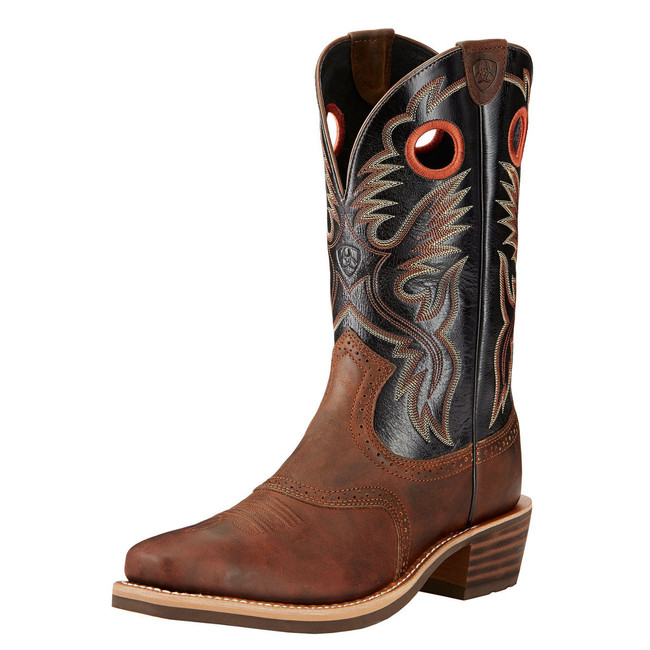 Men's Black & Brown Cowboy Boot by Ariat
