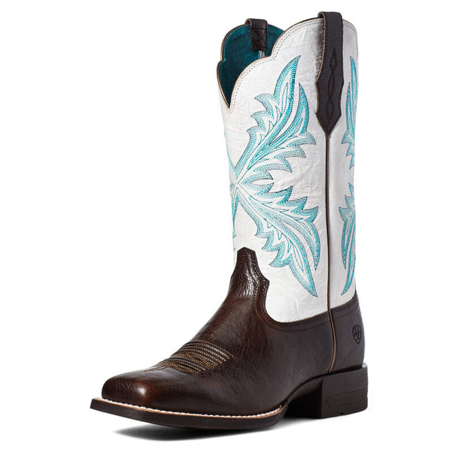ariat women's boots blue