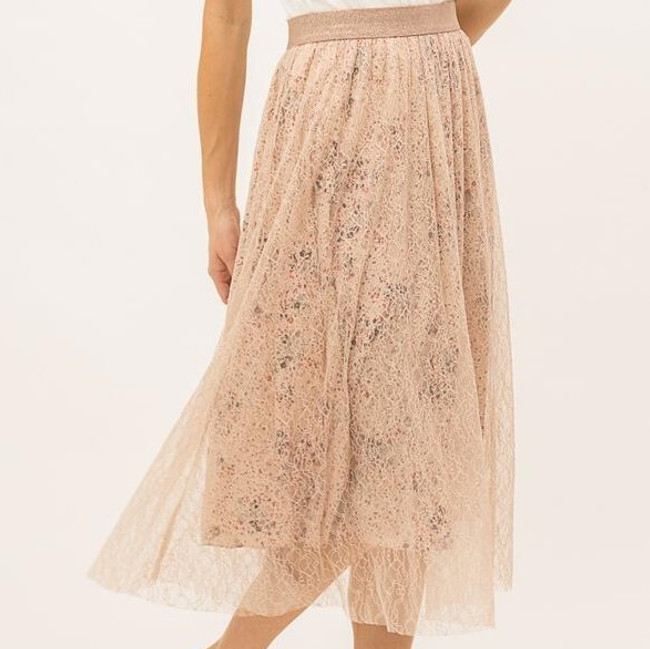 womens blush skirt