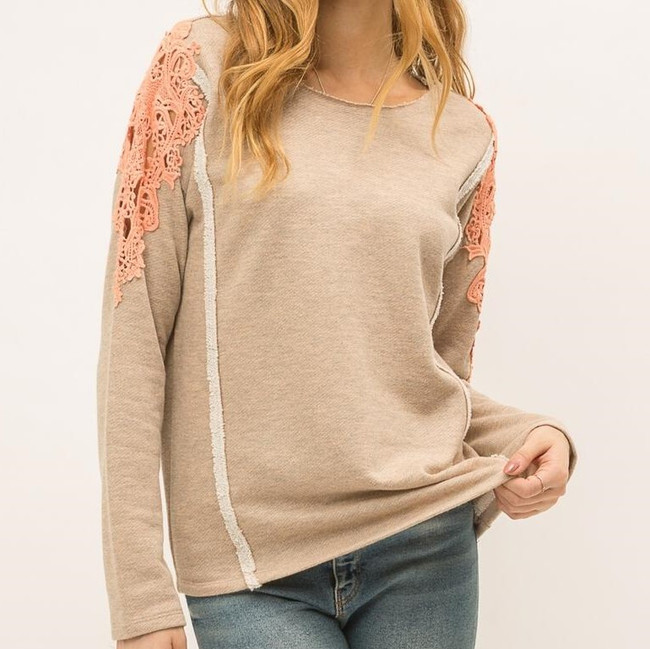 womens lace long sleeve top