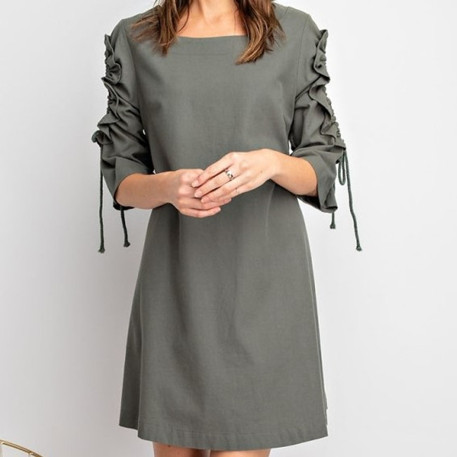 keyhole sleeve dress
