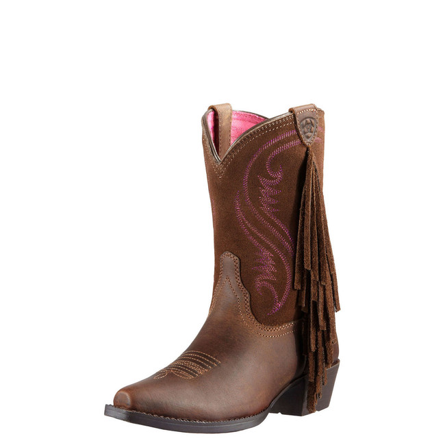 Kid's Brown Fringe Cowgirl Boots by Ariat