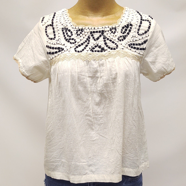women's embroidered top