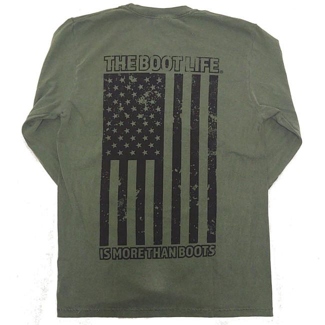 long sleeve flag shirt