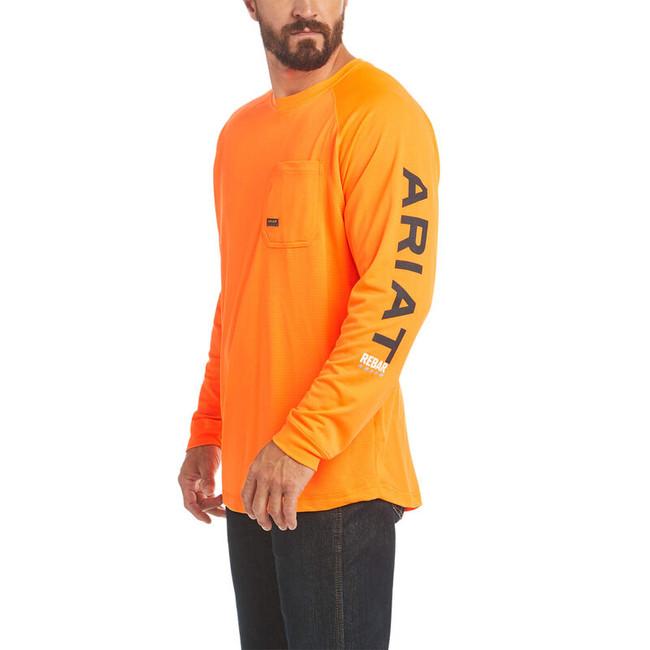 Rebar Heat Fighter LS Tee Neon Orange