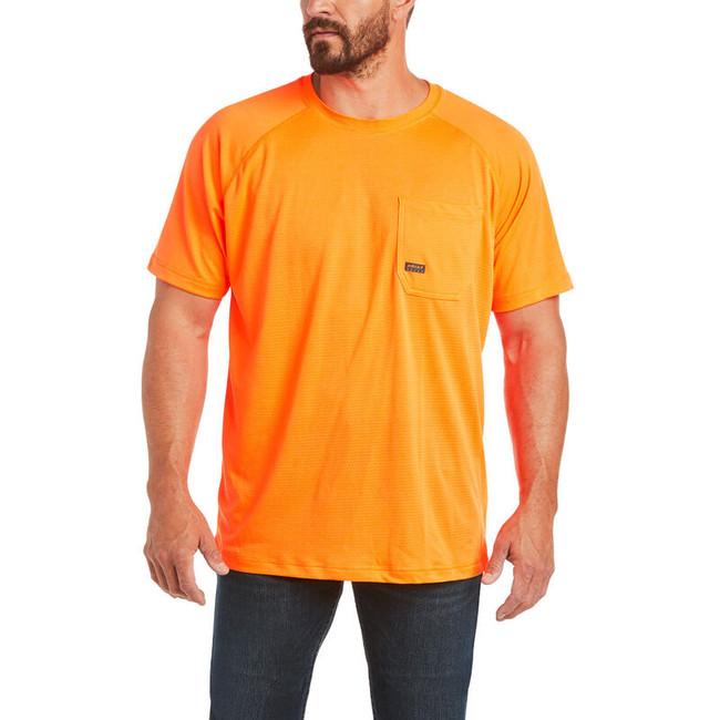Rebar Heat Fighter SS Tee Neon Orange